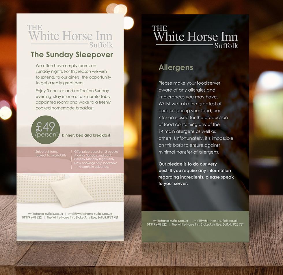 White Horse Inn Sunday Sleepover Table Talkers