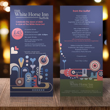 White Horse Inn Suffolk - New Years Table Talker