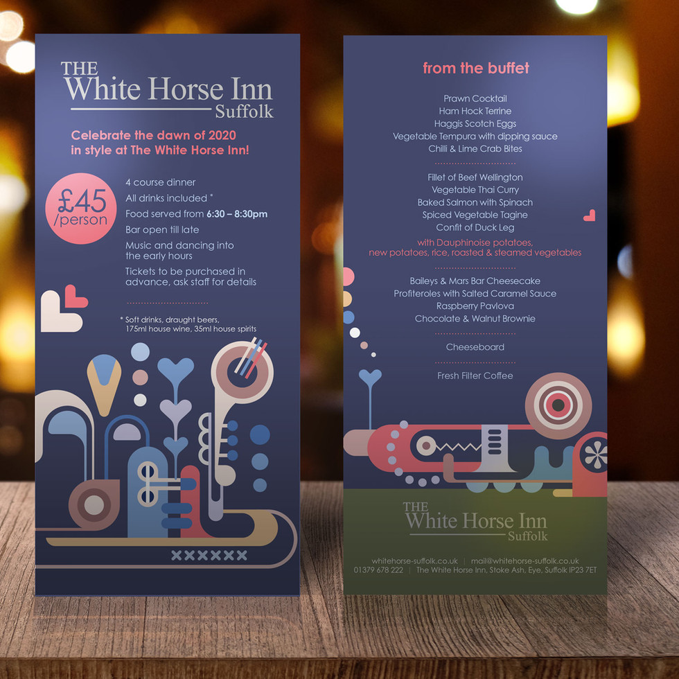White Horse Inn Suffolk Table Talker