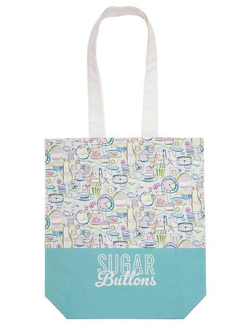 Sugar Buttons Cotton Tote Bag