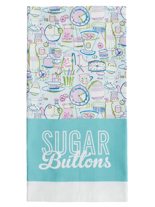 Sugar Buttons Cotton Tea Towel