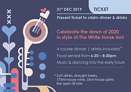 New Years Party Ticket Front - The White Horse Inn