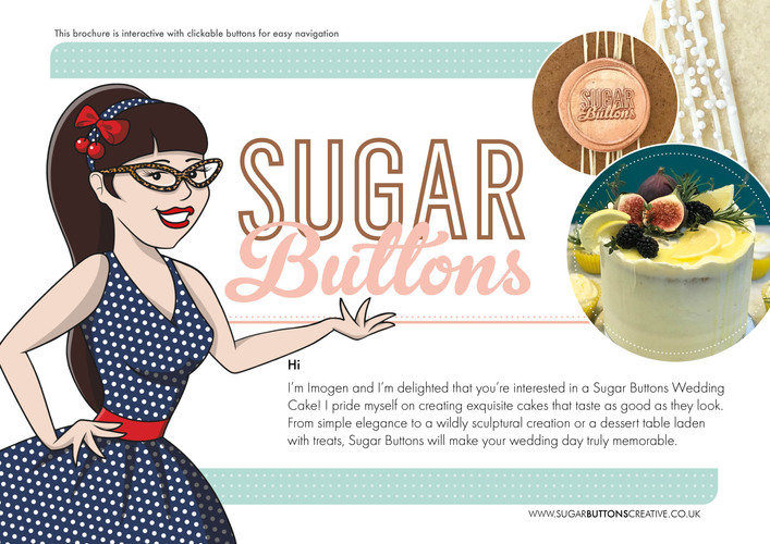 Sugar Buttons Brochure Cover