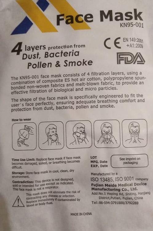 KN 95 Certif. FDA y CE