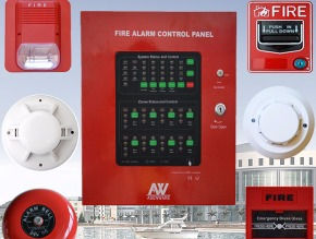 Traditional Conventional Fire Alarm System Al Baraa Bara'a Security and Safety Doha Qatar Fire Equipment Fire Doors Window Rated Kahraa Maa Substation Automatic Sliding Swing Overhead Extinguisher Alarm System Sprinkler Deluge