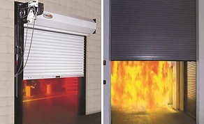 Fire Rated Rolling Shutter Door Qatar Civil Defence QCD Approved Al Baraa Bara'a Security and Safety Doha Qatar Fire Equipment Fire Doors Window Rated Kahraa Maa Substation Automatic Sliding Swing Overhead Extinguisher Alarm System Sprinkler Deluge