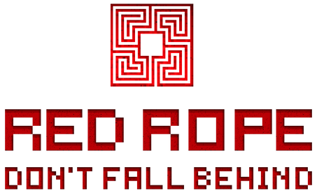 Red Rope Don't Fall Behind Logo 2