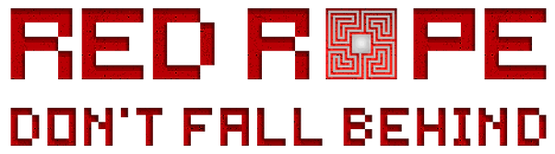 Red Rope Don't Fall Behind Logo