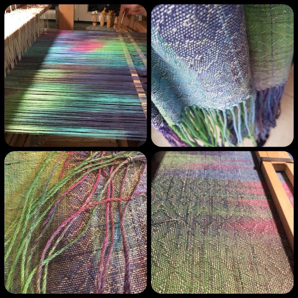 Webetante Handwoven Yarn handgefärbt