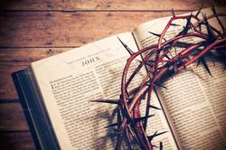 Open Bible  in John