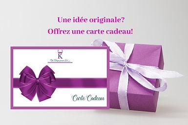 Karen Chadelaud, réflexologue, praticienne en Chi Nei Tsang & sophrologue vous propose des cartes cadeaux à offrir.