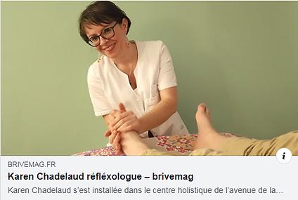 Karen Chadelaud, Réflexologue Méthode Originale Ingham® dans Brive Mag.