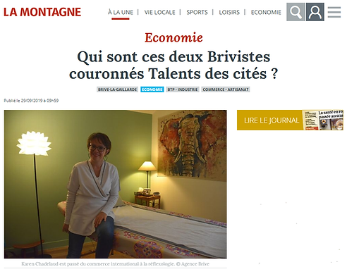 """Karen CHADELAUD, lauréate du prix """"Coup decoeur Nouvelle Aquitaine 2019"""""""