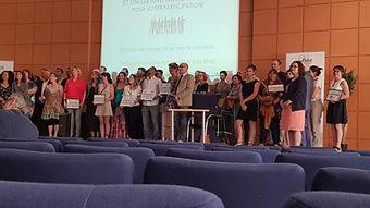 Ensemble des membres du jury & des lauréats du concours Talents 2019 Nouvelle Aquitaine