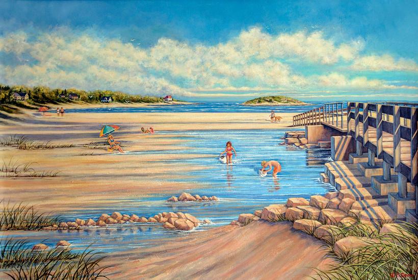 """Good Harbor Beach""  Acrylic, Private Collection"