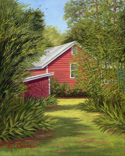 """""""The Cottage Path""""  Oil, Sold"""