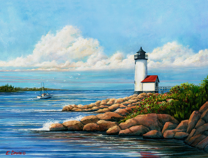 """Annisquam Lighthouse""  Acrylic, Sold"