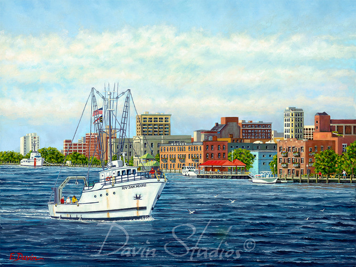 """""""Riverfest 2010 Poster""""  Oil, Private Collection"""