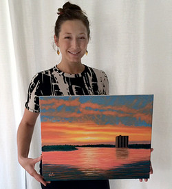 Audrey's Sunset Painting