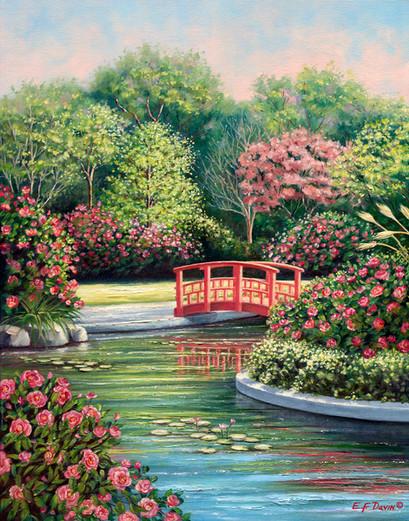 """The Lily Pond""  Oil, 16 x 20, $975 Framed"