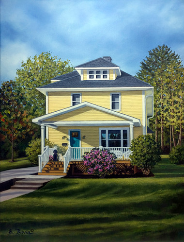 """""""Gregg and Kristy's House"""" Oil, Sold"""