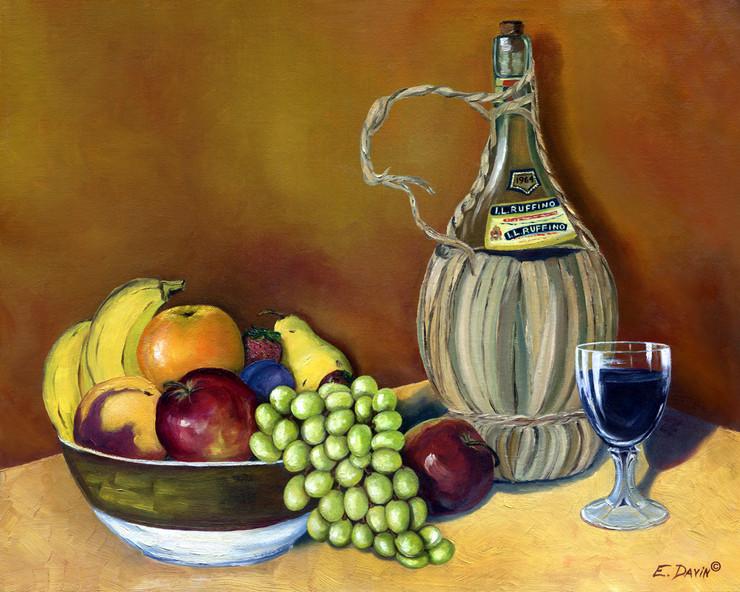 """""""Ruffino Chianti""""  Oil, Private Collection"""