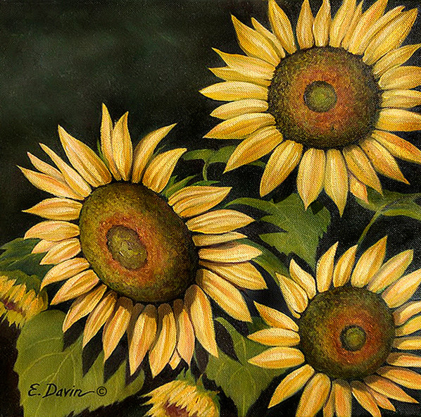 """""""Sunflowers"""" Oil, Sold"""