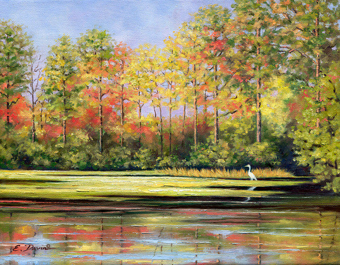 """""""Morning On The River""""  Oil, Sold"""