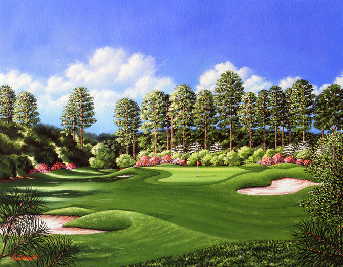 """""""The Seventh Hole"""" Oil, Private Collection"""