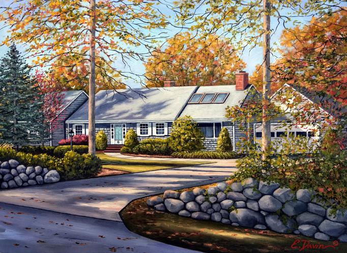 """Home Portrait""  Oil, Sold"