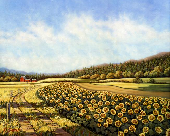 """Sunflower Fields""  Oil, Sold"