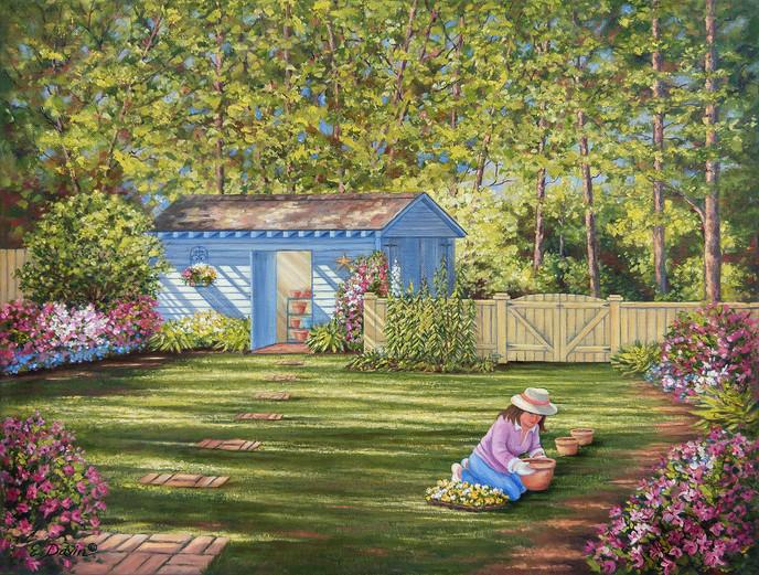"""""""Planting Time""""  Oil, 16 x 20, $695 Framed"""