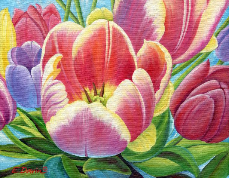 """Tulips""  Oil, 11 x 14, $550"
