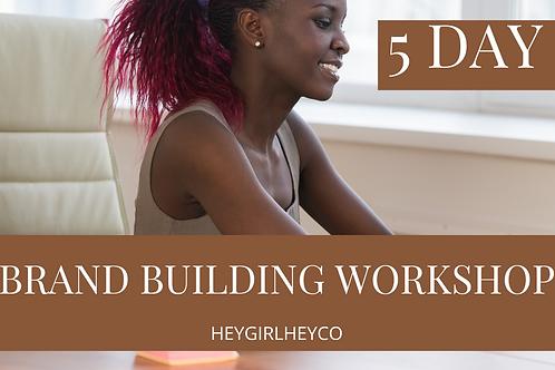 Brand Building Workshop
