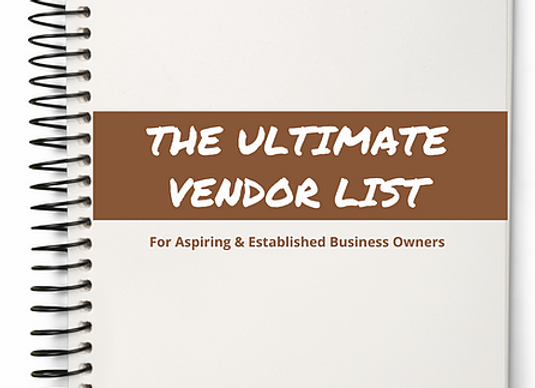 The Ultimate Vendor's List
