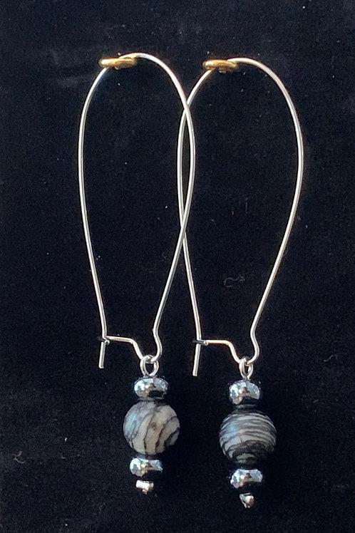 Pewter Kidney Earings