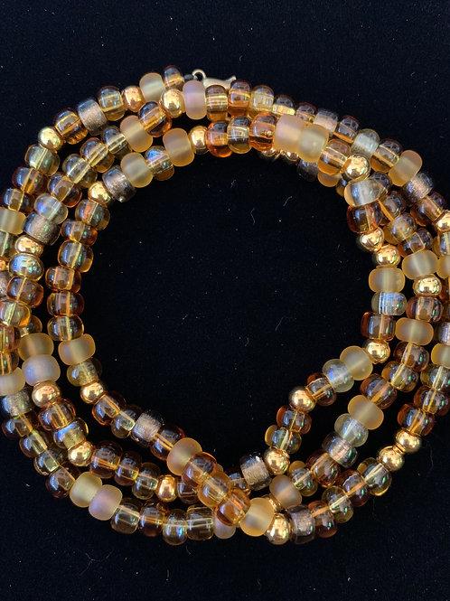 Amber Wrap Bracelet or Necklace