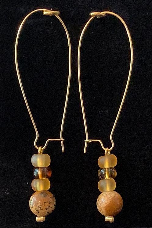 Amber Kidney Earings