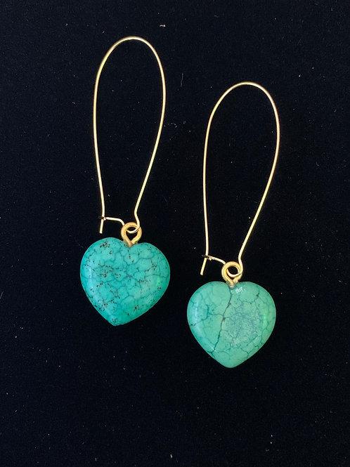 Heart Stone Kidney earings
