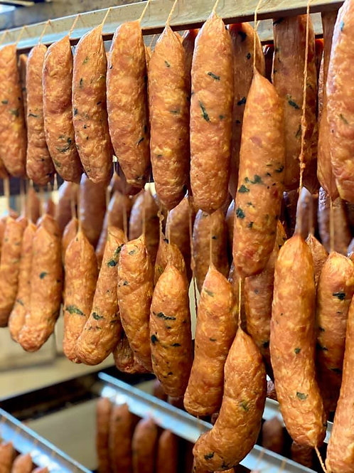 Mountain Products Smoked Chicken Spinach And Garlic Sausage