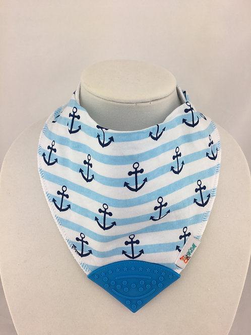 Little Anchors on Blue Stripes