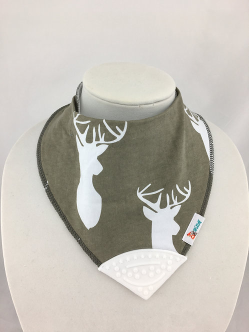 Deer Heads on Gray