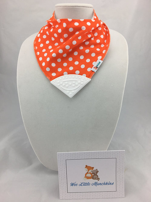 White Polka Dots on Orange