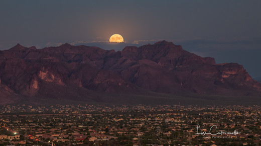 Moonrise over the Superstitions 9-24-18-