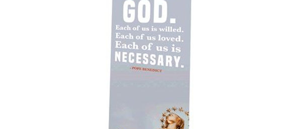 Each Of Us Is Necessary