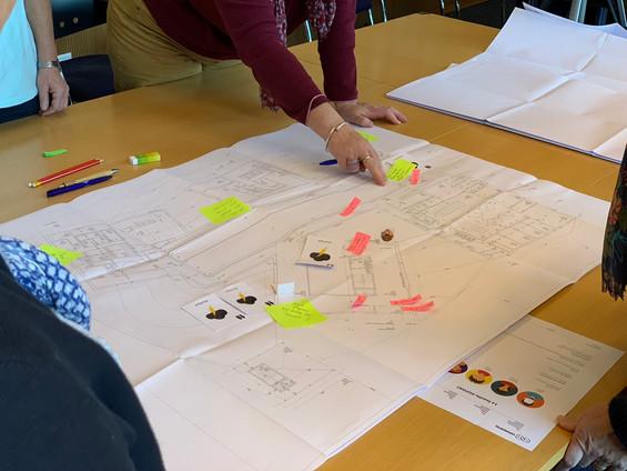 Prévoir le parcours client sur des plans d'architecture