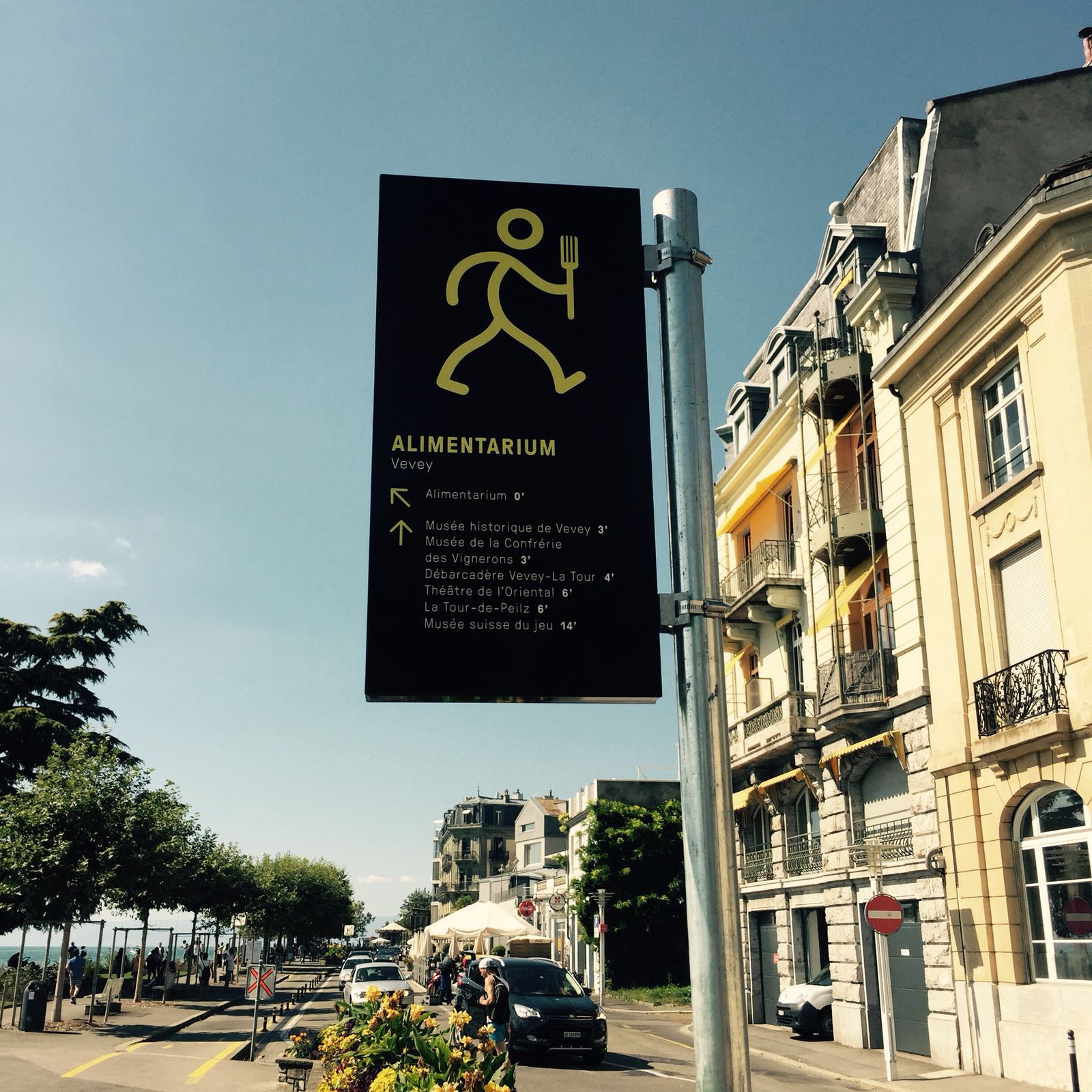 Panneau de signalisation touristique