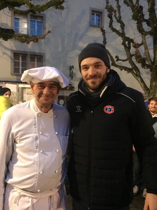 Gottéron joueur piste de luge Fribourg.J
