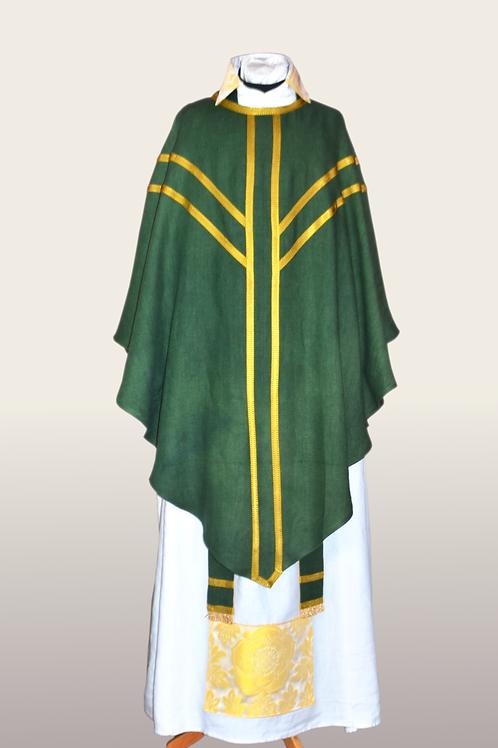 Green Hand Dyed Linen Mass Set