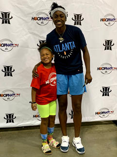 Tiffany Hayes and Hoop Nation Little Baller